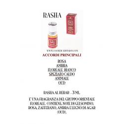 RASHA AL-REHAB BOCCETTA IN VETRO CON ROLL-ON E TAPPO A VITE. 3 ml.  WWW.COSMETICSDIVISION.COM - CONCENTRATO -  PERSISTENTE