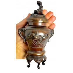 japanese burner - koro - asian antiques - bronze - meiji - WWW.COSMETICSDIVISION.COM