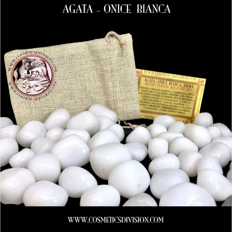 AGATA BIANCA - ONICE - WHITE AGATE - SEGNI ZODIACALI - CANCRO - OROSCOPO - WWW.COSMETICSDIVISION.COM - PREZZO - CRISTALLOTERAPIA