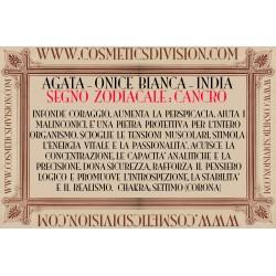AGATA BIANCA - ONICE BIANCA - CRISTALLOTERAPIA - WWW.COSMETICSDIVISION.COM - PREZZO