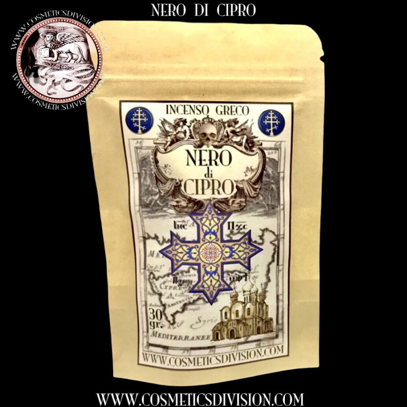 NERO DI CIPRO - INCENSO GRECO NATURALE IN GRANI - PREZZO - 30 GR. - WWW.COSMETICSDIVISION.COM